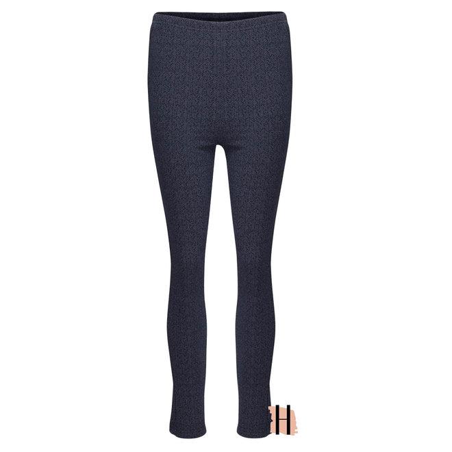 Legging Blauw Gemêleerd met Mini Zigzag