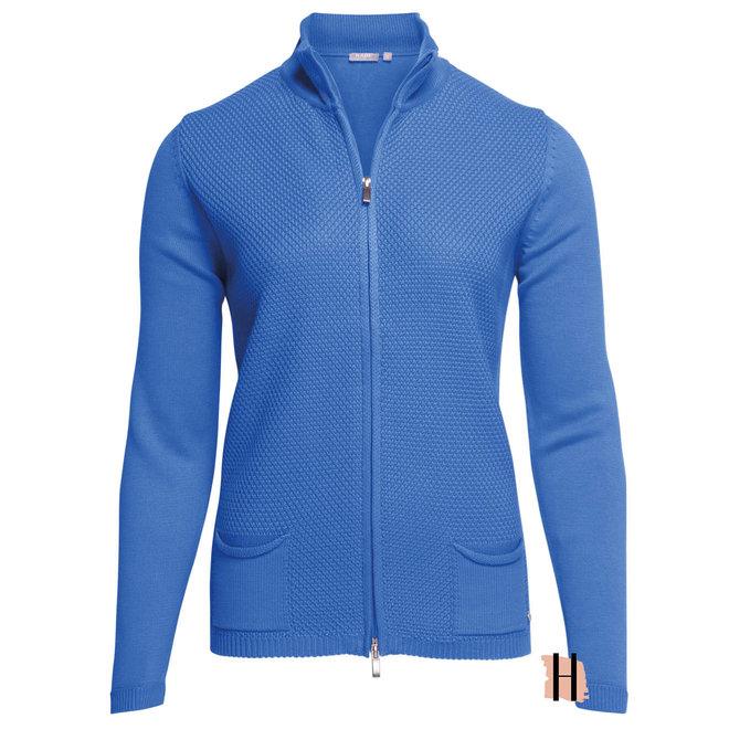 Sportief Vest met Opstaande Kraag Blauw