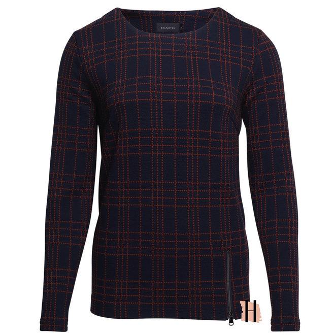 Fijngebreid Sweatshirt met Ruit Dessin