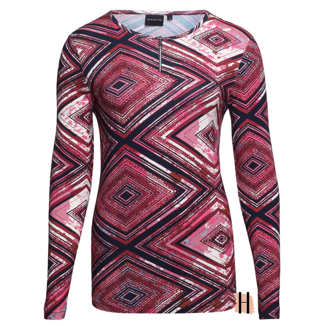 Shirt met Cerise Grafisch Dessin