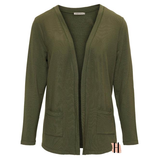 Vest Demidi MICRO MODAL Fine Knit in Army Groen 130 W21