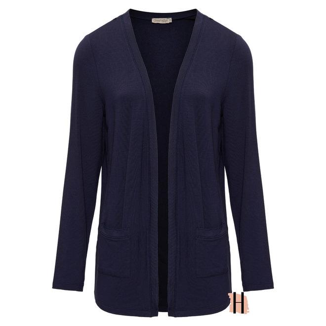 Vest Demidi MICRO MODAL Fine Knit in Indigo 130 W21