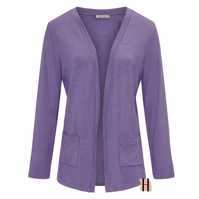 Vest Demidi MICRO MODAL Fine Knit in Purple 130 W21