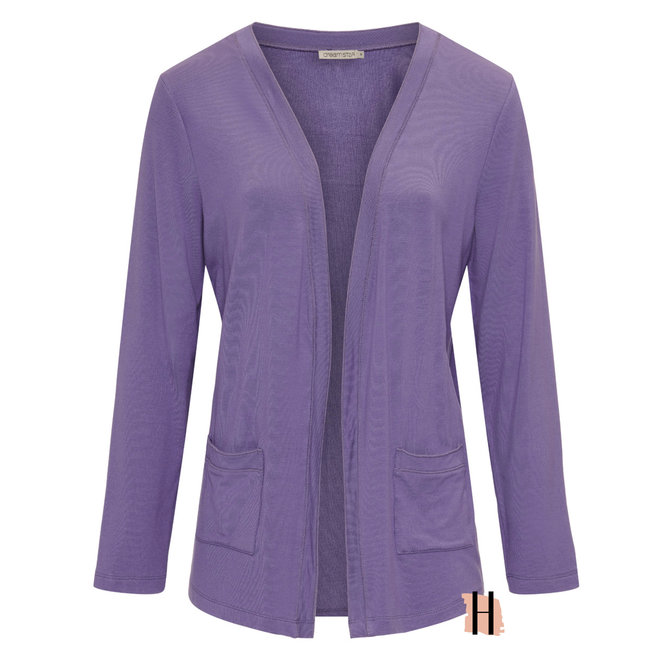 Openvallend Vest met Zakken in Purple
