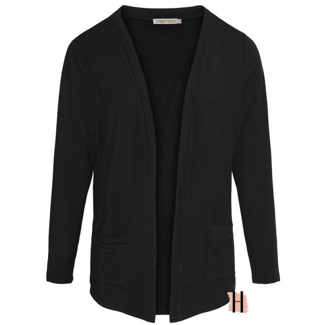 Vest Demidi MICRO MODAL Fine Knit in Zwart 130 W21