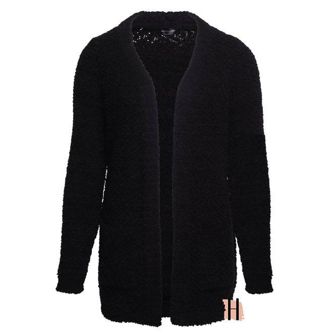 Heerlijk Wollig Gebreid Vest in Zwart