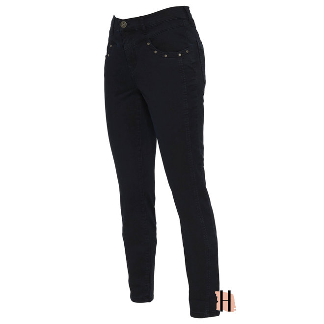 Stretch Jeans met Studs Joy Blue Denim