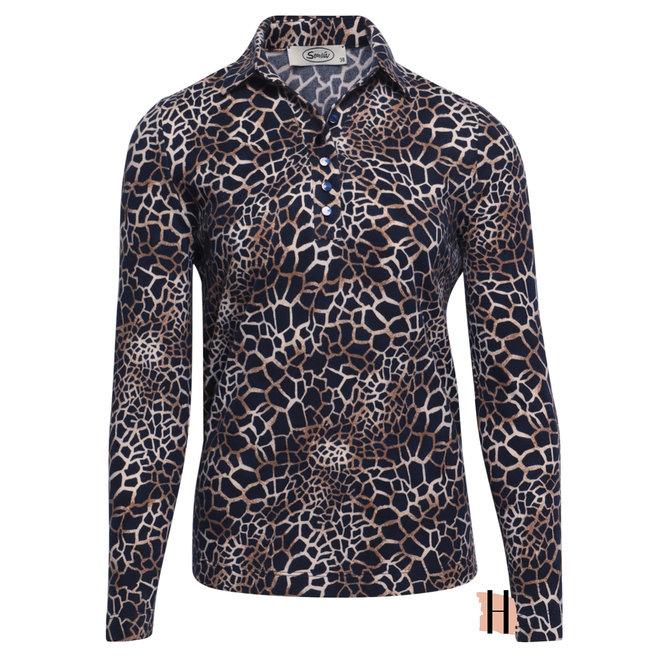 Poloshirt Met Dierenprint Fleece