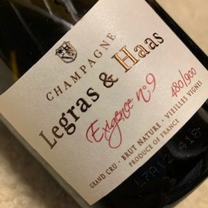 Champagne Legras & Haas Exigence No. 9  Brut Nature