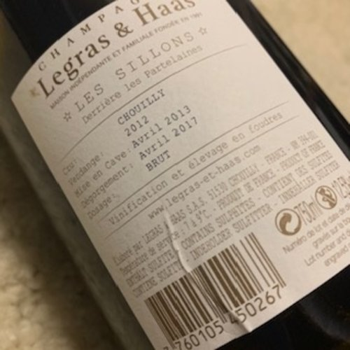 Champagne Legras & Haas Millesime Les Sillons