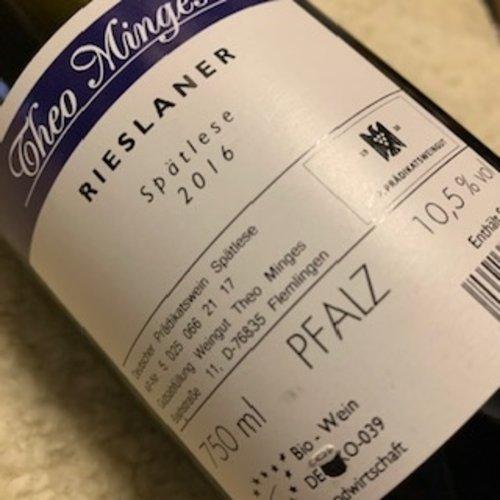 Weingut Theo Minges Rieslaner Spatlese