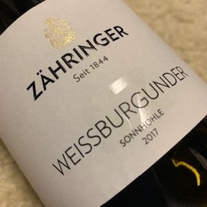 Weingut Zahringer Weissburgunder SZ