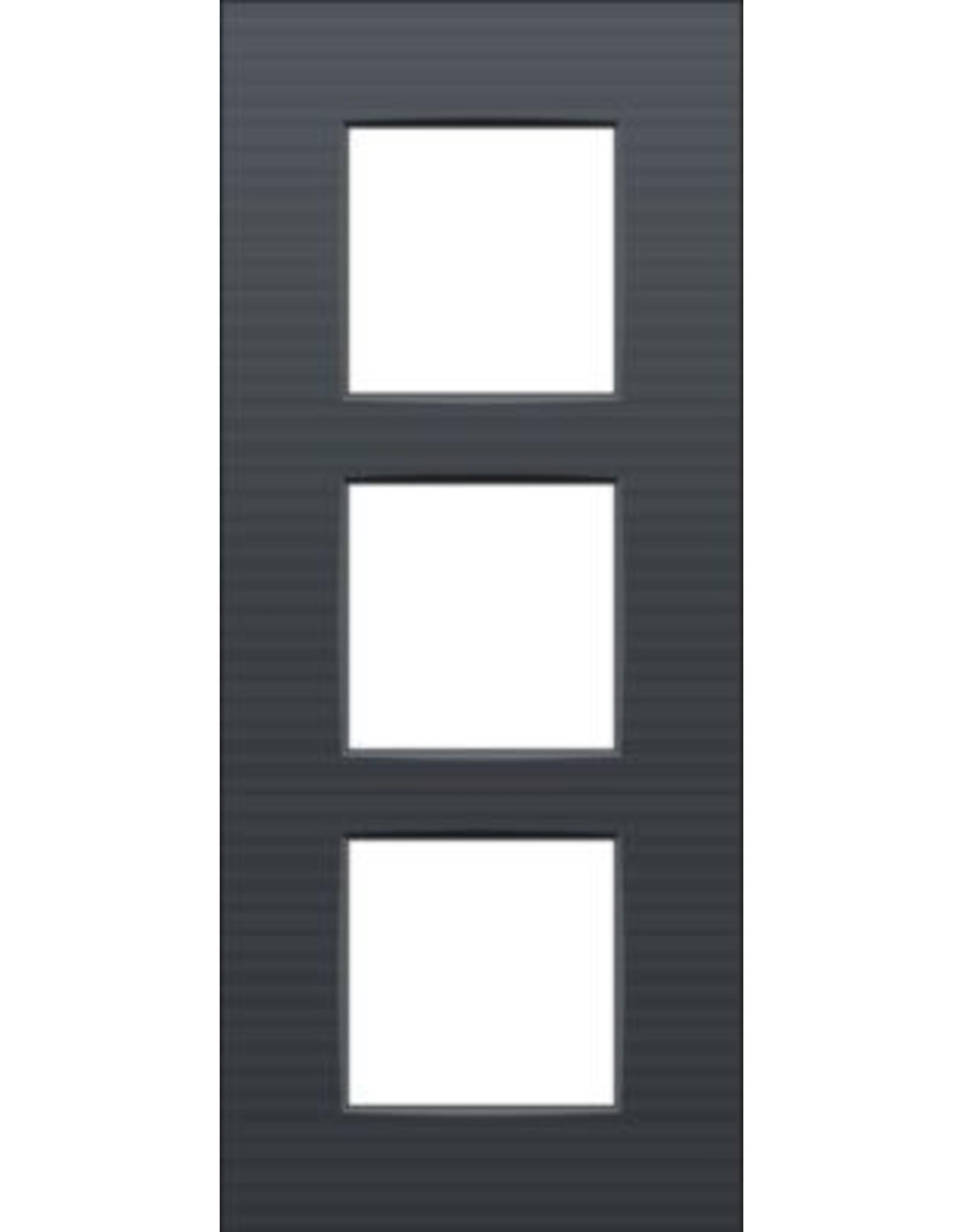 Niko Afdekplaat (60mm) 3-voudig verticaal, antraciet