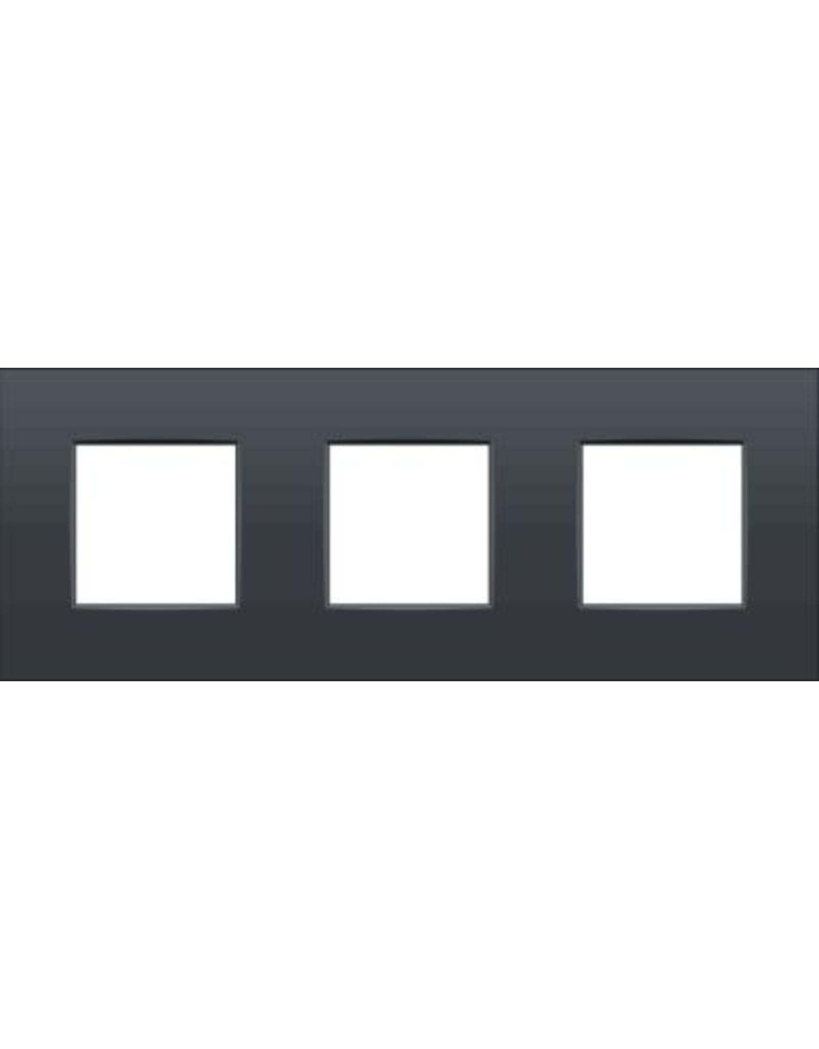Afdekplaat (71mm) 3-voudig horizontaal, antraciet