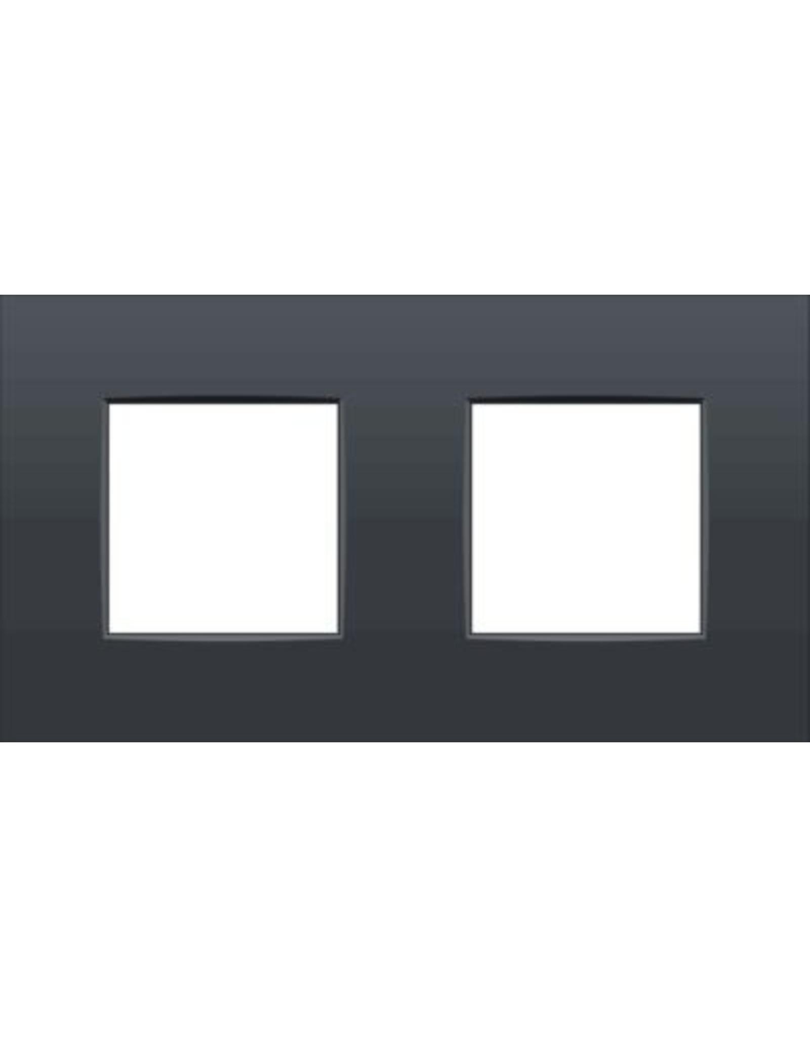 Niko Afdekplaat (71mm) 2-voudig horizontaal, antraciet