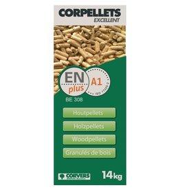 corvers zak pellets 14Kg naaldhout