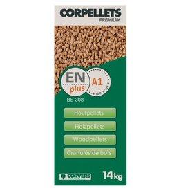 corvers zak pellets 14Kg loofhout