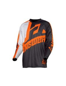 Answer ANSWER Syncron Voyd Junior Jersey Charcoal/Gray/Orange