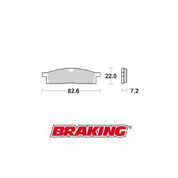 Braking Braking remblokken CM44 YAMAHA YZ 65 / YZ 85 voor