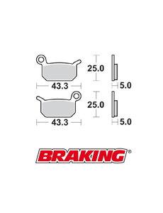 Braking Braking remblokken CM44 KTM SX 50 voor + achter