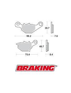 Braking Braking remblokken CM44 RM85 achter