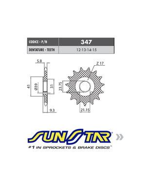 Sunstar Sunstar voortandwiel HONDA CRF 450