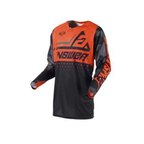 Answer ANSWER Shirt Elite Discord Black/Orange - Maat XL