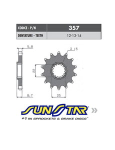 Sunstar Sunstar voortandwiel KTM SX/SXF/EXC