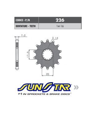 Sunstar Sunstar voortandwiel YAMAHA YZ 85