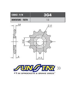 Sunstar Sunstar voortandwiel HONDA CRF 250 18+