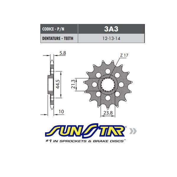 Sunstar Sunstar voortandwiel Suzuki RMX/RMZ 450