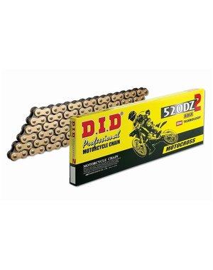 DID D.I.D 520 DZ2 Ketting Goud/Zwart 118 Schakels C clip