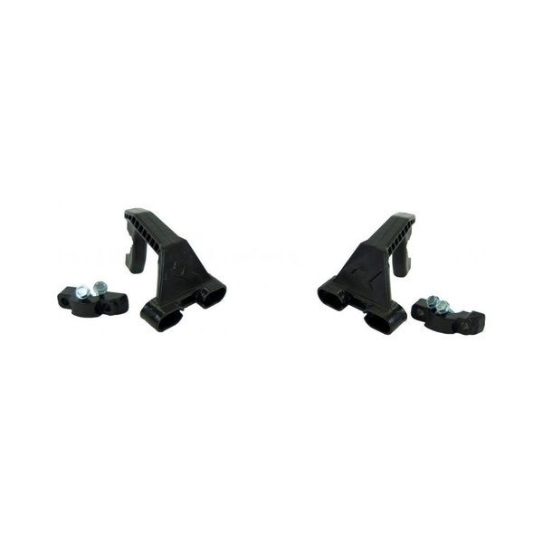 Rtech NYLON MOUNT. KIT WITH CLAMPS HP1 BLACK