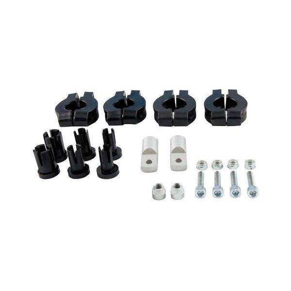 Rtech EASY M KIT HBAR 22-28 BLACK-SILVER, PLASTIC