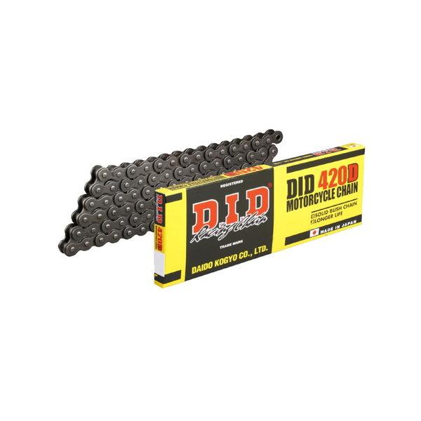 DID D.I.D 420 D Ketting Zwart/Zwart 124 Schakels RJ Clip