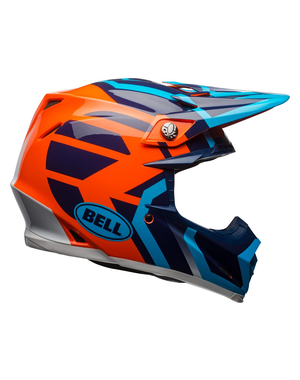 Bell BELL Moto-9 Mips District Helmet Gloss Blue/Orange Size S