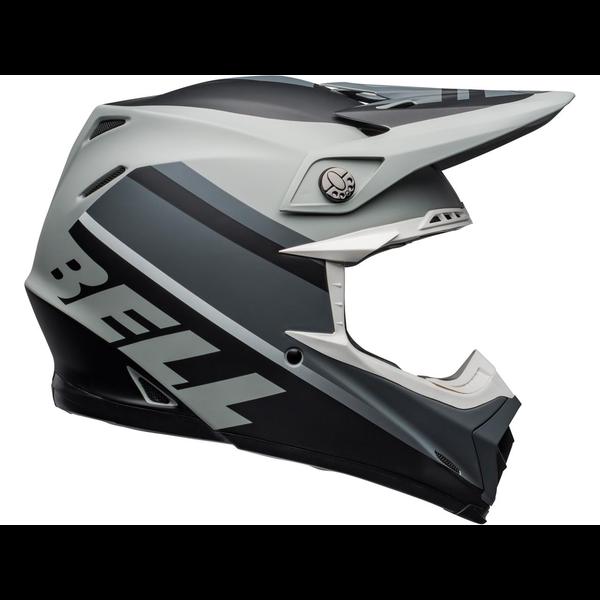 Bell BELL Moto-9 Mips Helm Prophecy Matte Grijs/Zwart/Wit