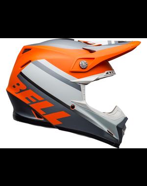 Bell BELL Moto-9 Mips Helm Prophecy Matte Oranje/Zwart/Grijs Maat L