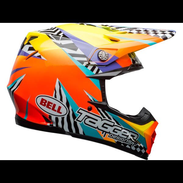 Bell BELL Moto-9 Mips Helm Tagger Breakout Oranje/Geel