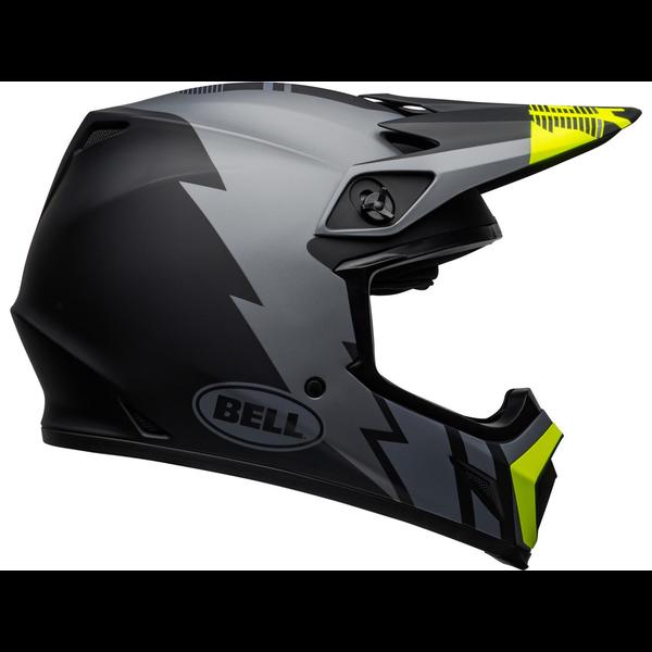 Bell BELL MX-9 Mips Helm Strike Matte Grijs/Zwart/Hi Viz