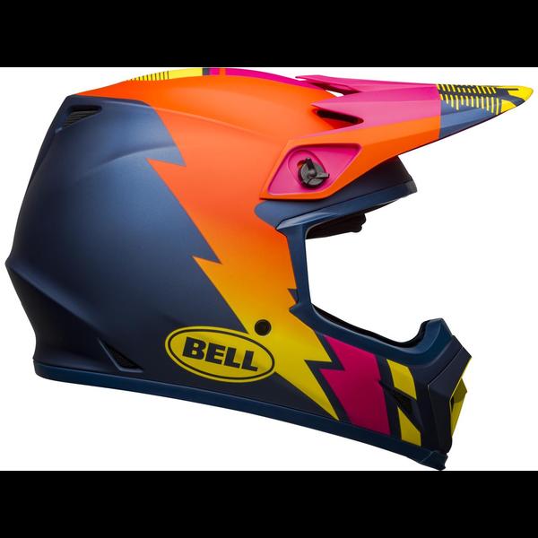 Bell BELL MX-9 Mips Helm Strike Matte Blue/Orange/Pink