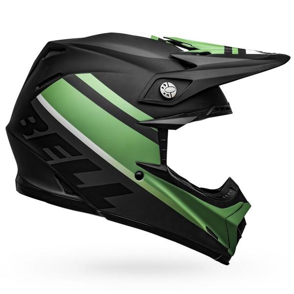Bell BELL Moto-9 Mips Helm Prophecy Matte Black/Dark Green