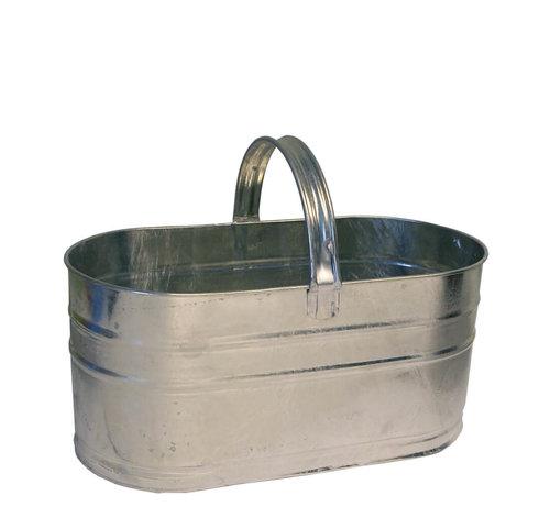 Kovotvar Mand ovaal 8 liter - Zink