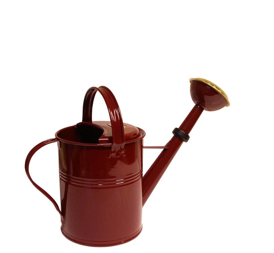 Gieter 5 liter - Zink - Wijnrood