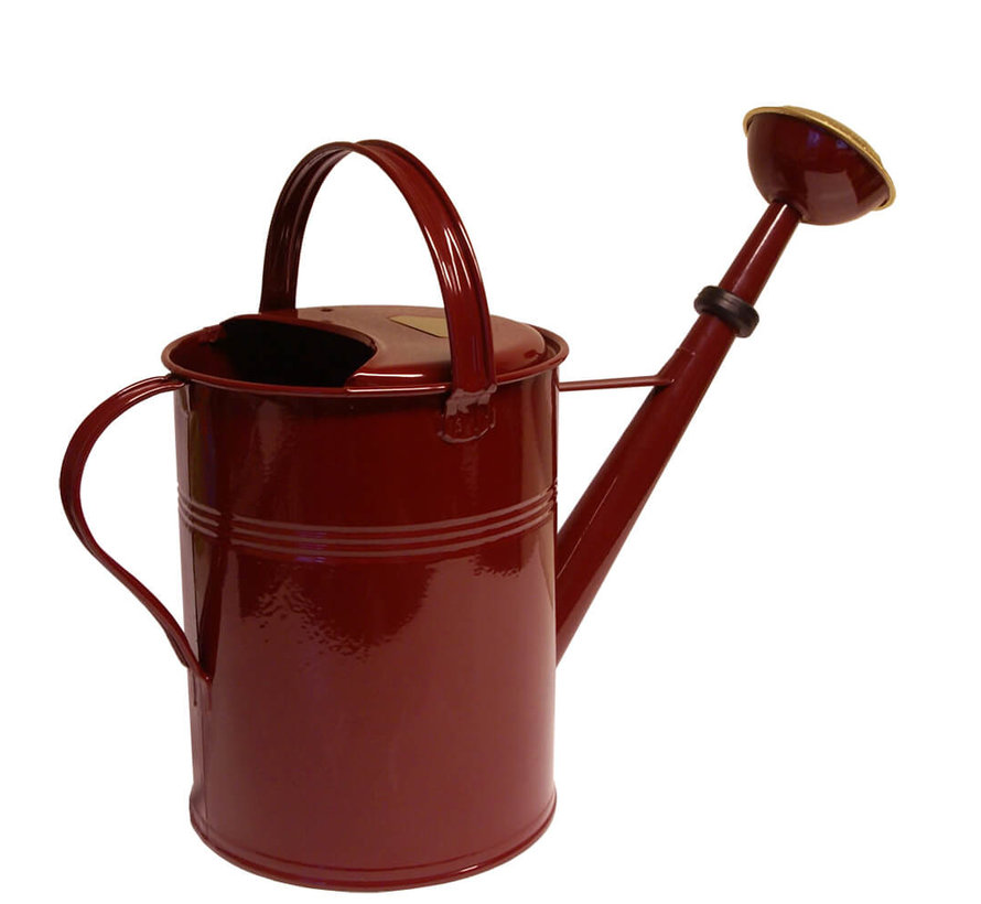 Gieter 9 liter - Zink - Wijnrood