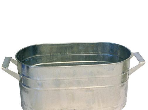 Kovotvar Teil - Ovaal 8 liter - Zink