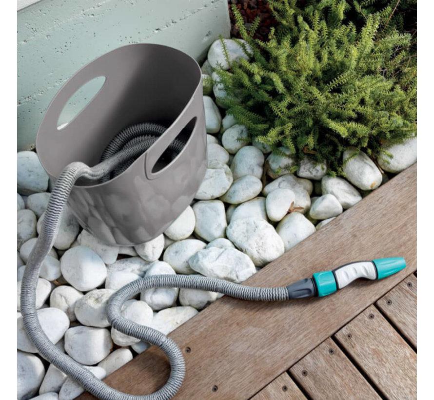 Aqua pop tuinslang - Grijs - 15 meter