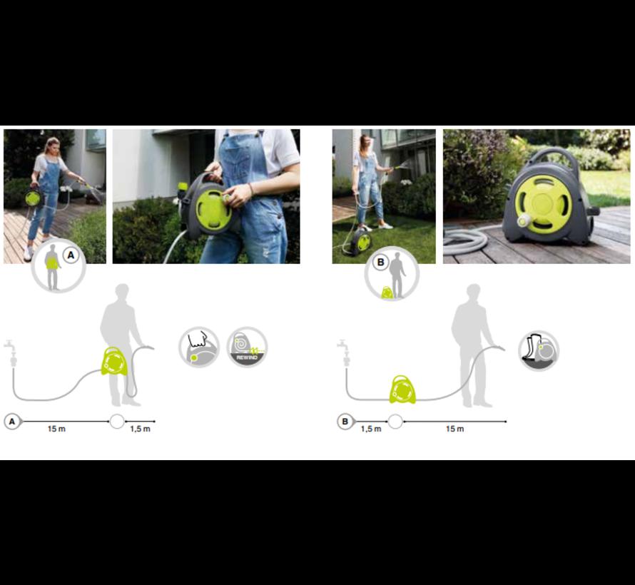 Slanghaspel Aqua Bag Maxi - Lime
