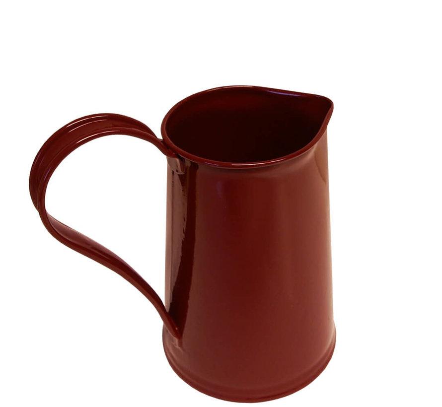 Waterkan 1,8 liter - Zink - Wijnrood