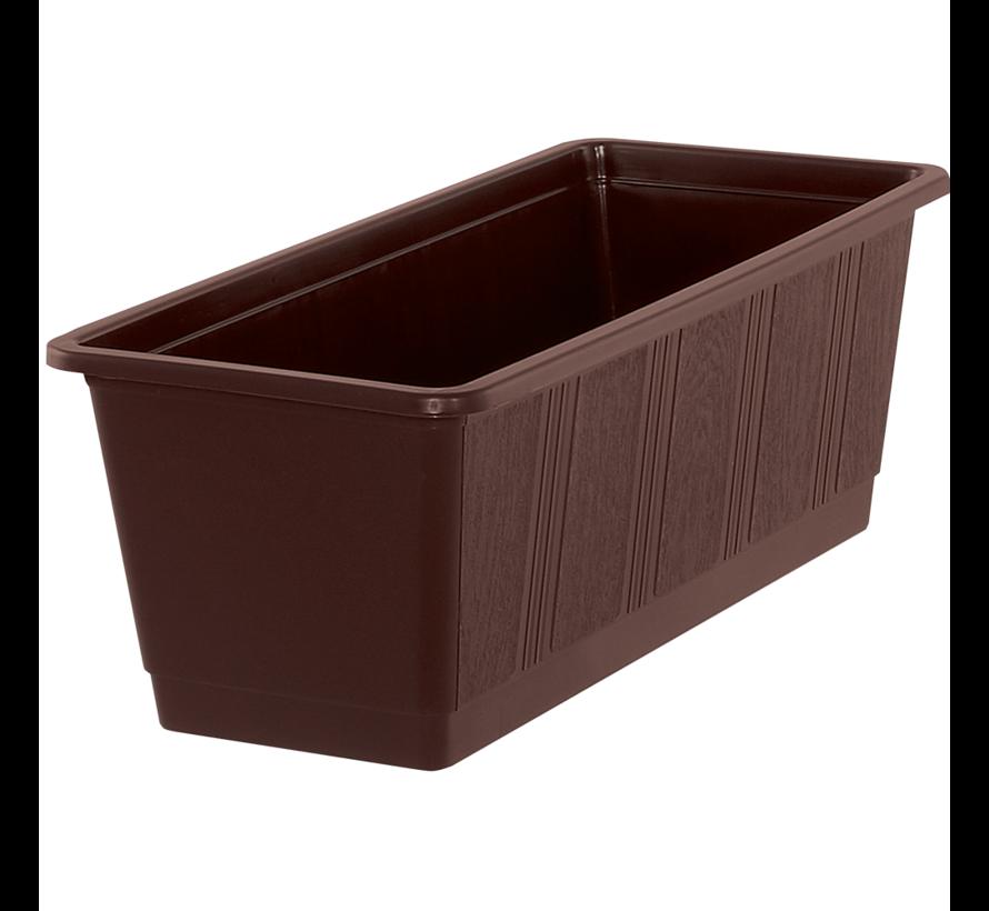 Balkonbak 40cm bruin